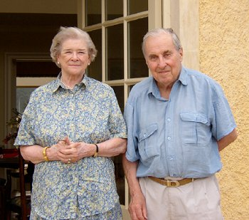 Charles and Dolores at Little Barrow Farm in 2003