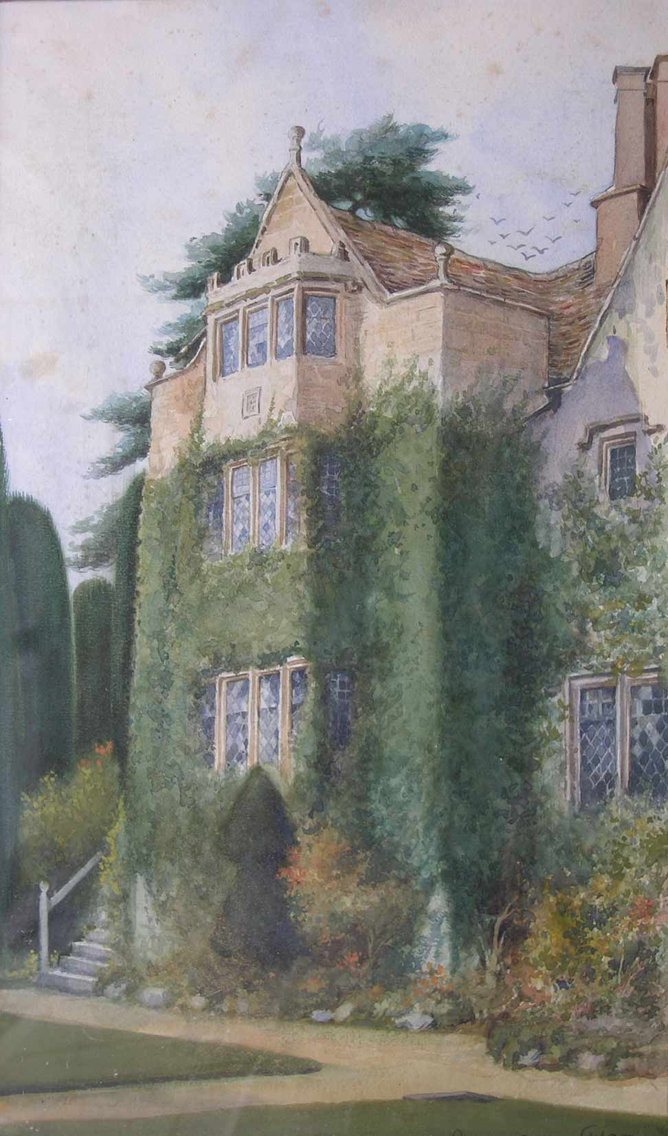 Watercolour of the west wing