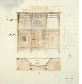 Design for cupboard at Owlpen, 1913 (courtesy Cheltenham Museum)