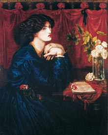 Jane Burden, later Morris, by Dante Gabriel Rossetti