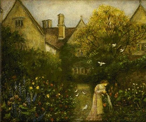 Kelmscott Manor by Marie Spartali Stillman, c. 1905