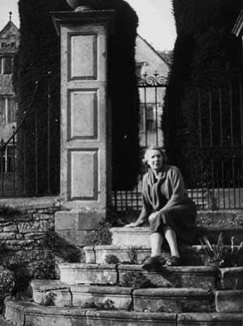 Barbara Bray, who lived at Owlpen 1926 to 1963, photographed by Bob Parsons of Newark Park