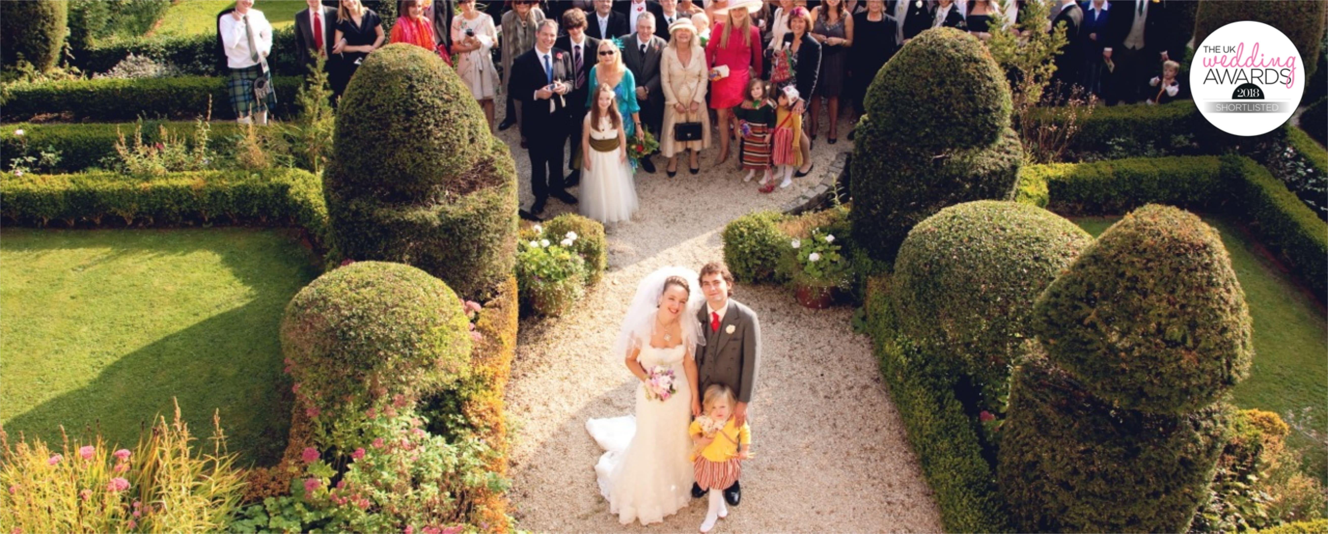 owlpen garden wedding party