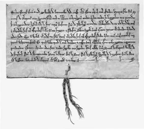 Owlpen marriage deed of 1220; the archives at Owlpen span 800 years