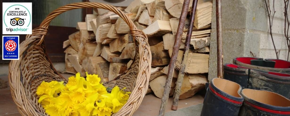 Cottages Slider Manor Farm daffodils | Owlpen Manor Cotswold Cottages | Self-catering Holiday Cottages in the Cotswold